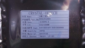 60GLD1203 Crystal Optech, Material D263TECO