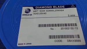 SD600L25MX64 Diamond Blade, 79x0.25x40 / Disco