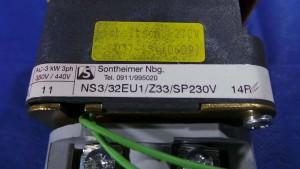 NS3/32EU1/Z33/SP230V Switch, Main / Yellow~Red