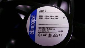 4650N Fan, 230~50Hz 120mA / 19W / Exhaust 220v