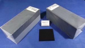 """H44-N105913-1402 Tray, Waffle Chip Tray / BLACK / 4""""x4"""" / Entegris H44-N105913"""