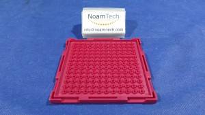 3.84X3.48X2.50 Tray, Waffle Chip Tray / RED / 12x13=156 / MSST