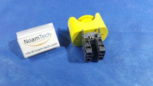 ZBE-102 Switch, ROBOT STOP Switch Push Button+Contact Block Assy / Yellow Top  / ZBE-102 / Telemecanique