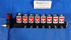 XXX-XXX-XXX Valve Module, Block With 8 Units Solenoid ValveGEM-B-33 ~ 24V DC 10W SEM-SOL / and Valve MR03808R / Aircomp