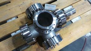 MDC-MFG MDC-MFG Inc, 5 Way Flange / With Alcatel CF2P High Cacuum Cold Cathode / MDC-MFG Inc