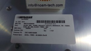 MRCFAL0826008 PVD / AL/4CU,5N5 SIGMA,332DX 18mmTH,MONOBLOC,