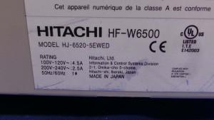 HJ-6520-5EWED PC Industrial Hitachi WF-W6500 / Spec DSY04-EM / R2