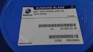SD800L25MT38 Diamond Blade, 79x0.25x40 / Disco