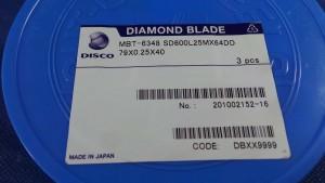 SD600L25MX64DD Diamond Blade, 79x0.25x40 / Disco