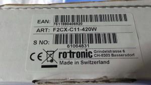F2CX-C11-420W F/T Transmitter