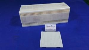 3.84X3.48X2.50 Tray, Waffle Chip Tray / WHITE / 12x13=156 / MSST