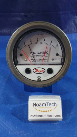 "3000-6MM Photohelic, Pressure / Range 0~6"" / Gage~Switch / Type 2 Encl / Dwyer"