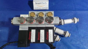 MODULE Module, Manifold / Air Penumatic / 320 Humphrey Solenoid / 24v DC / 8.0w / VAC~125 Psi Set of 4 units with Block AMHV02-4 / With Filters